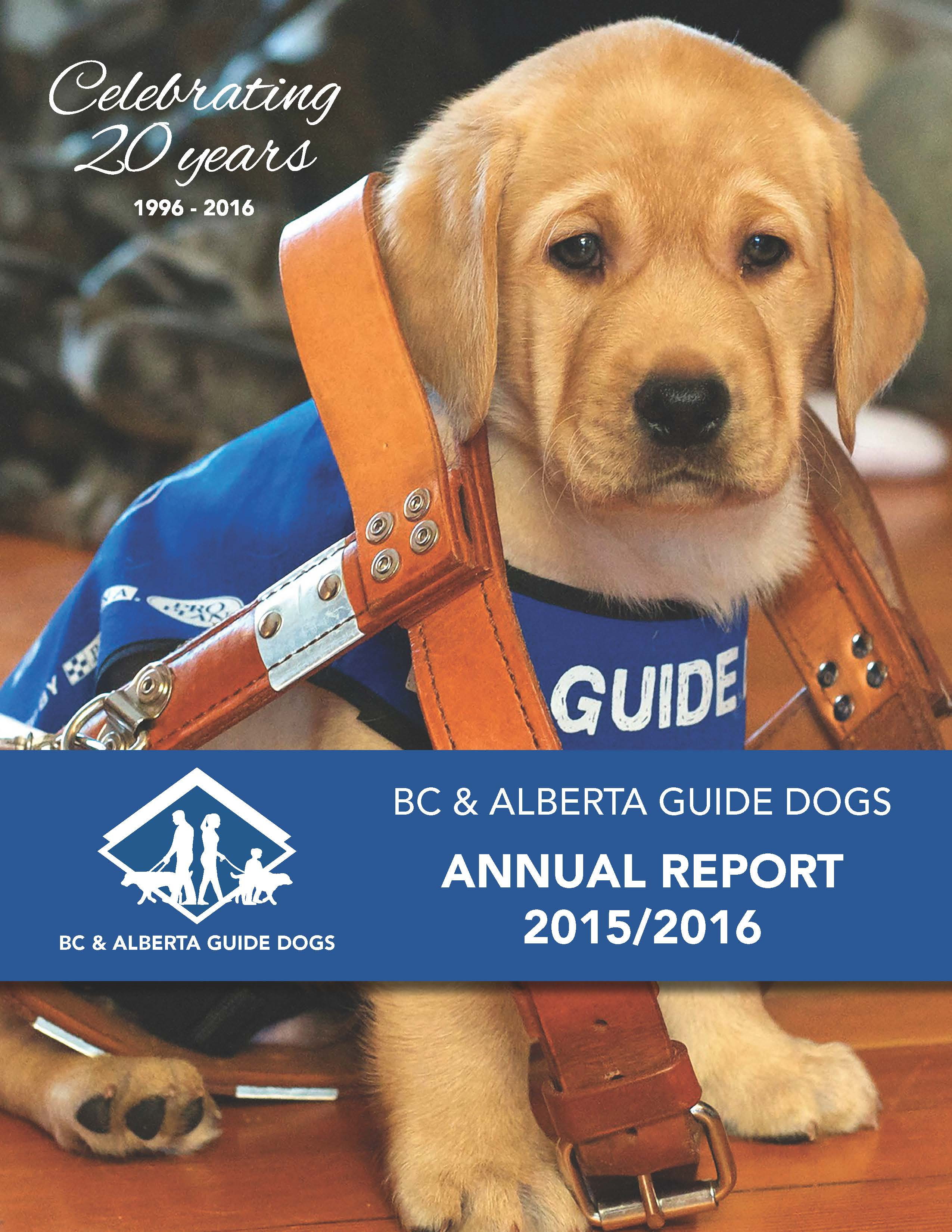 a report on guide dogs Canadian guide dogs for the blind complaint review: canadian guide dogs for the blind jane thornton co-founder coo manotick ontario.