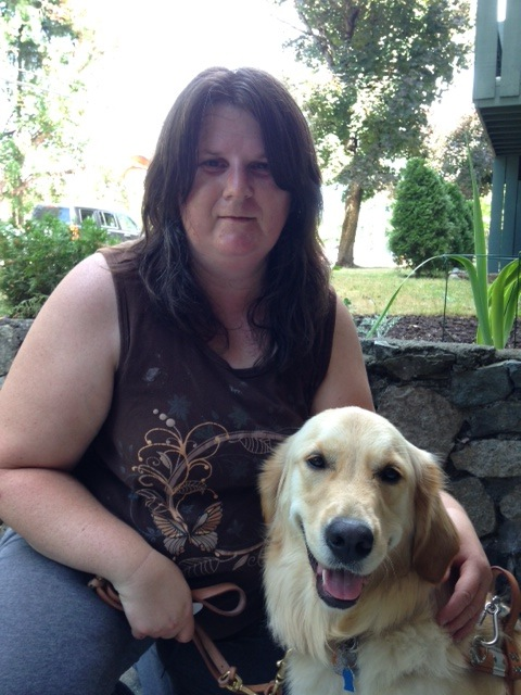 Denise and Guide Dog Bella