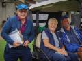 Bill with Volunteers Roberta and Ken
