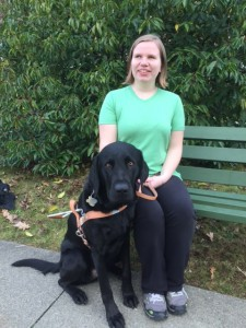 Melissa and Guide Dog Telus