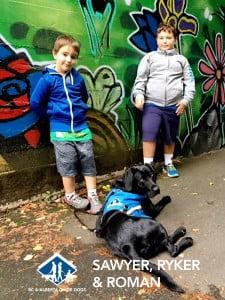 Sawyer, Ryker & Autism Support Dog Roman