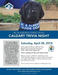 Calgary Trivia Night poster