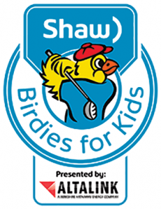 Birdies for Kids logo - bird with a golf club