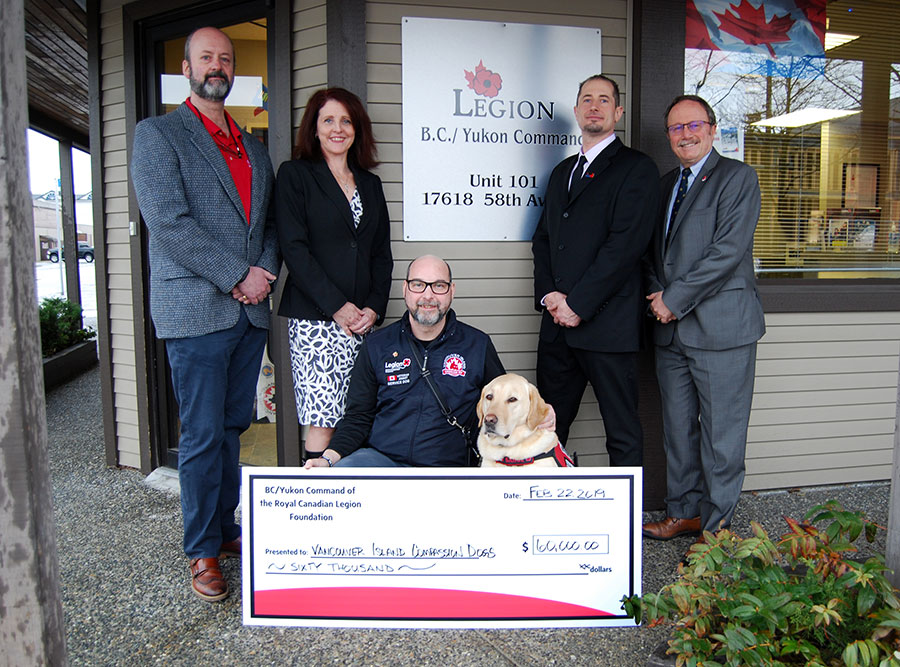 Legion Command donation boosts PTSD Service Dog Program