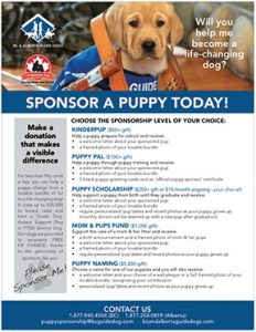 Sponsor a Puppy Today - full puppy sponsorship form