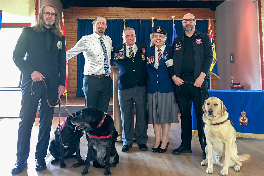 Vancouver Island Compassion Dogs receives donation to strengthen PTSD Service Dog program for Veterans