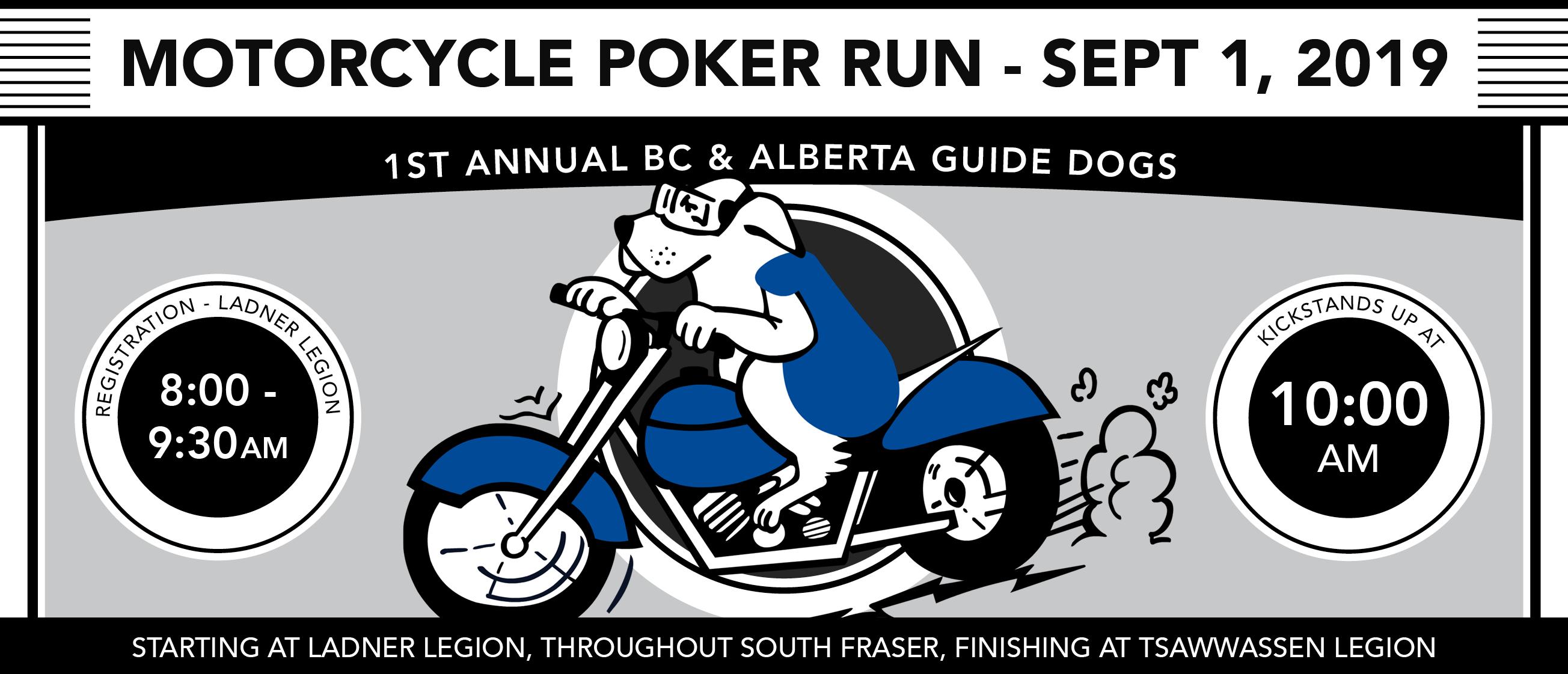 1st Annual Motorcycle Poker Run fundraiser – September 1, 2019