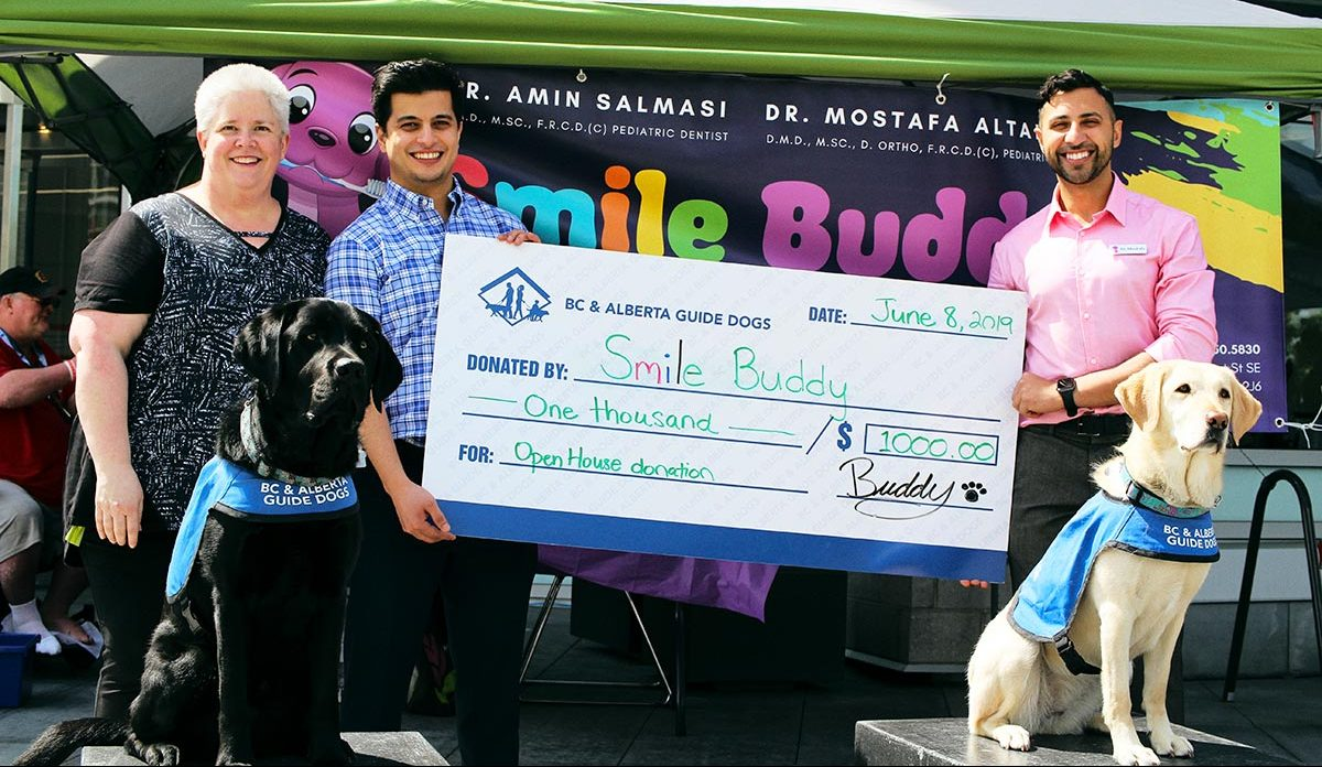Smile Buddy Open House raises $1,000 for Alberta Guide Dogs