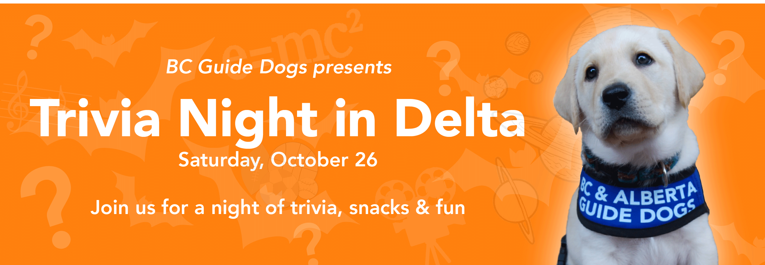Save the Date! Trivia Night in Delta is on Saturday, October 26