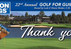 Thank you for joining us at the 22nd Annual Golf for Guide Dogs Tournament!