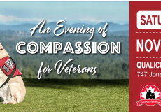 Thank you for attending An Evening of Compassion for Veterans in support of our PTSD Service Dog Program
