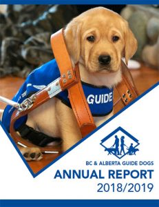 BC & Alberta Guide Dogs Annual Report 2018/2019