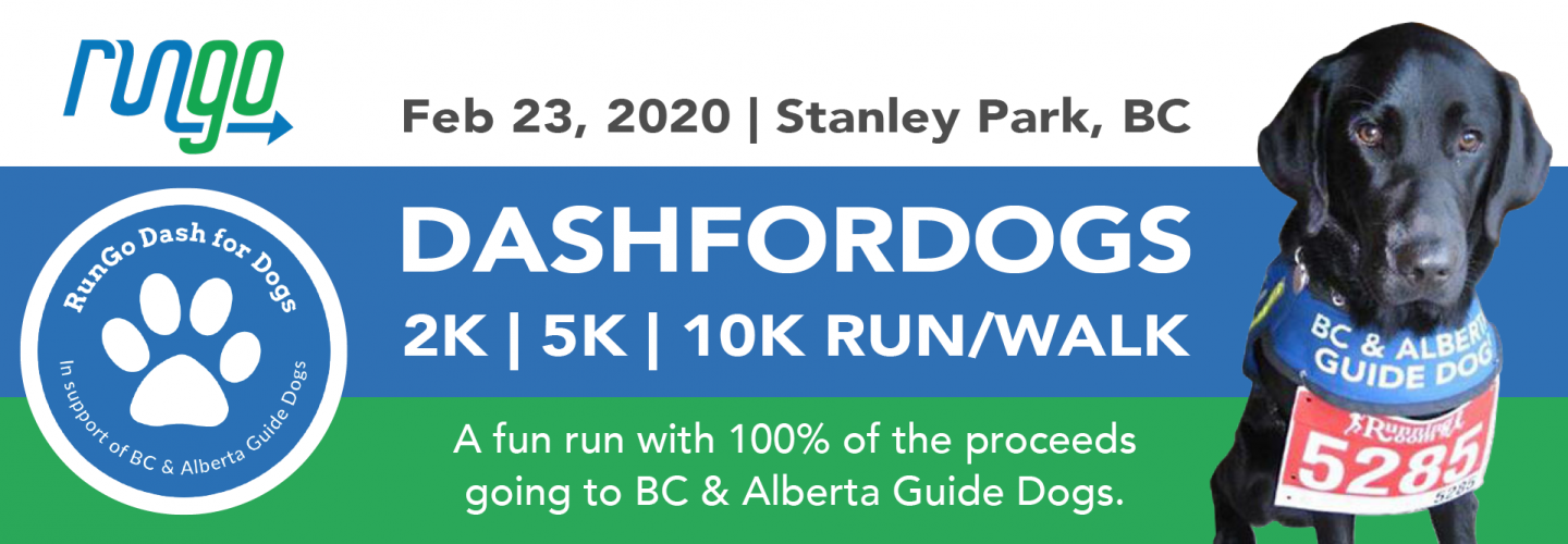 Lace up your shoes for RunGo Dash for Dogs! Register today for the 10K/5K/2K run or walk on FEB 23
