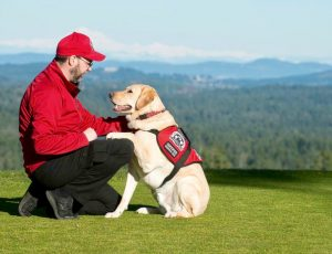 Veteran with his PTSD Service Dog
