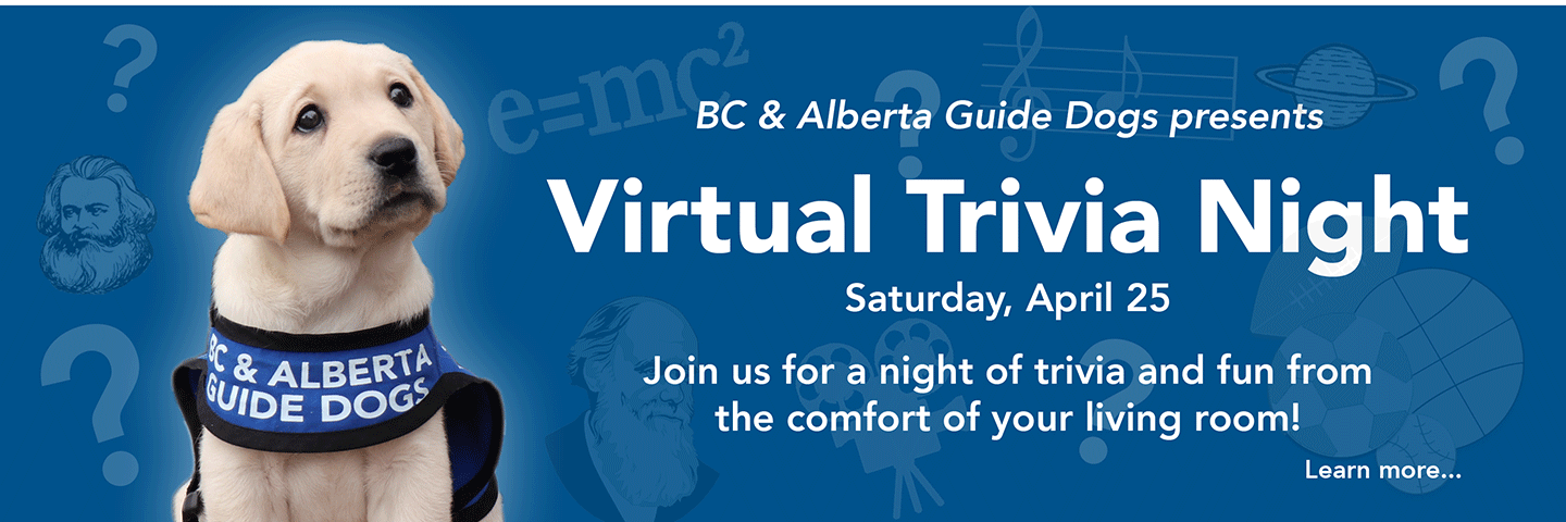 Join us for Virtual Trivia Night on April 25, 2020!