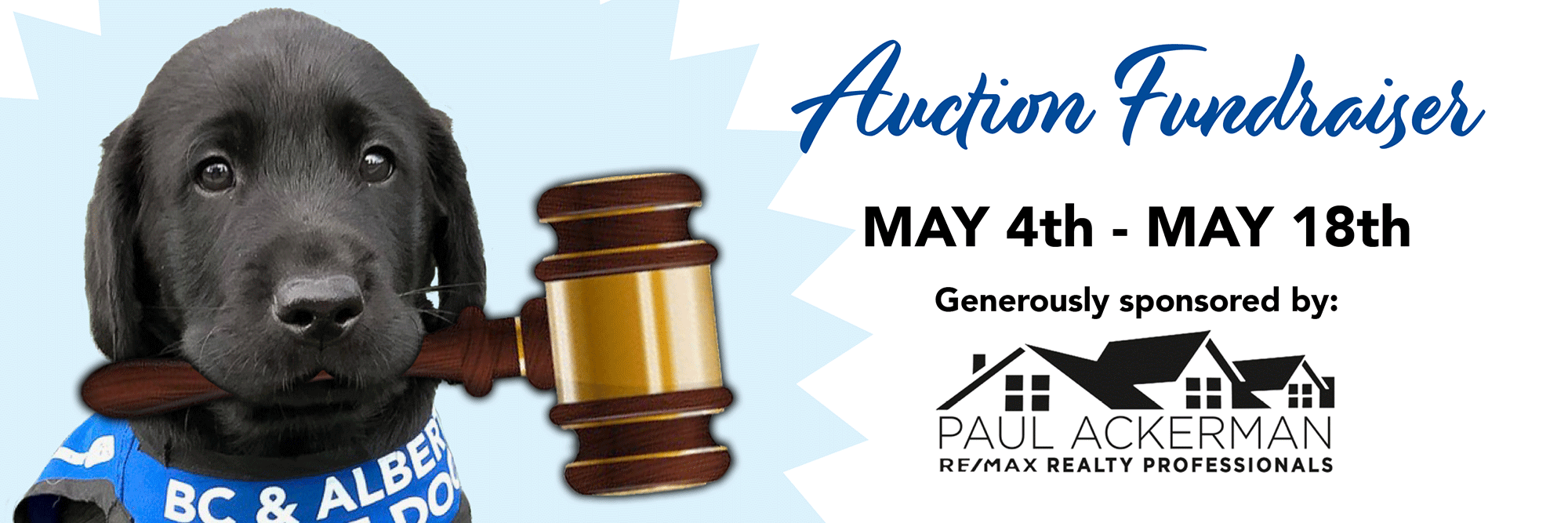 Online Silent Auction Fundraiser Runs May 4th to May 18th