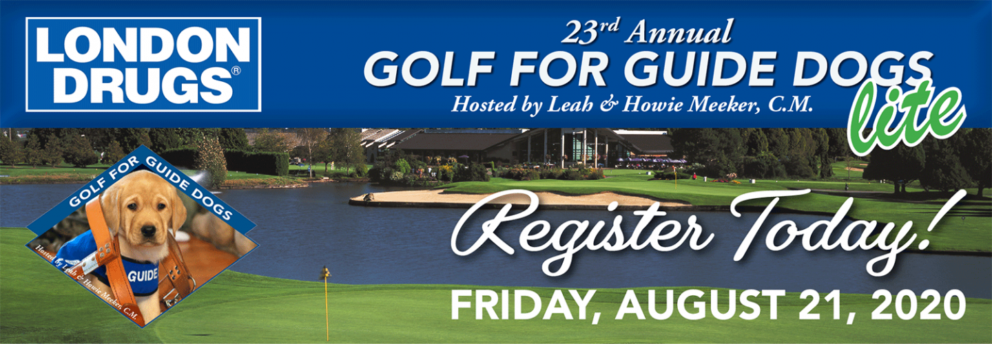 """Register Today! 23rd Annual Golf for Guide Dogs """"lite"""" is August 21st, 2020"""