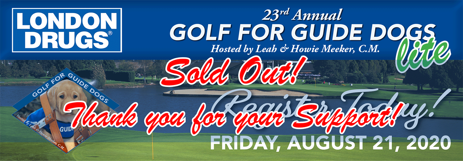 "Sold Out! 23rd Annual Golf for Guide Dogs ""lite"" is August 21st, 2020"