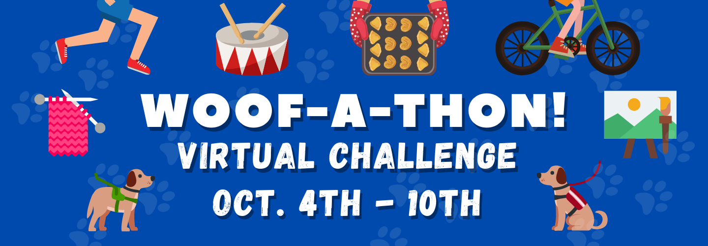 Sign up for the Woof-a-Thon Virtual Challenge!