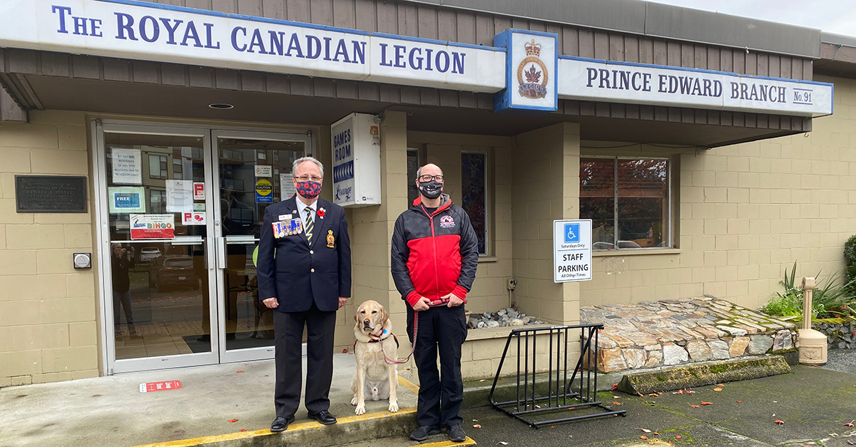 VICD Service Dogs hails support for PTSD Service Dog Program during pandemic