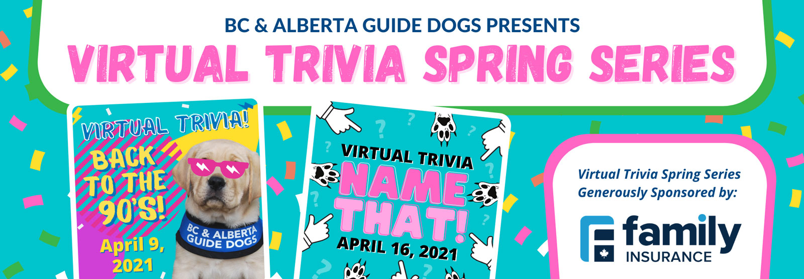 The Virtual Trivia Spring Series is here! Join us on April 9th and 16th!