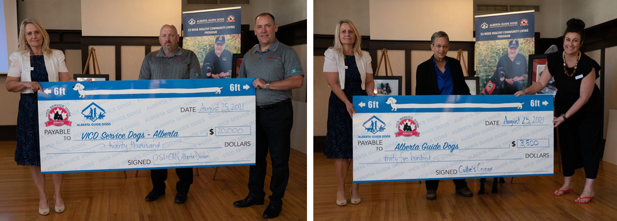 VICD Service Dogs Alberta receives donations from Callie's Corner and OSI-CAN